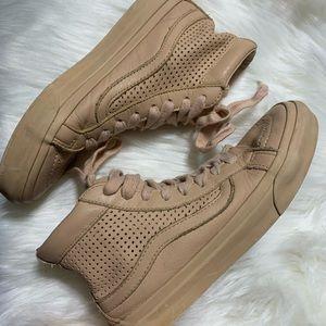 Vans ultracush high top nude leather sneaker